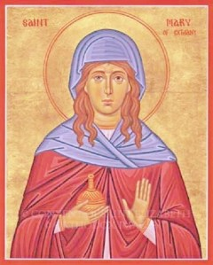 an icon of Mary of Bethany